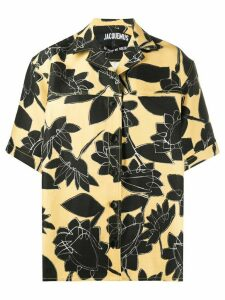 Jacquemus La Chemise Vallena floral-print shirt - Yellow