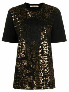 Roberto Cavalli snake print T-shirt - Black