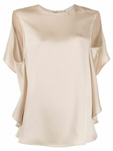 Stella McCartney open back draped blouse - NEUTRALS