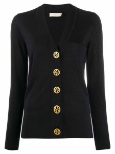 Tory Burch branded button cardigan - Blue