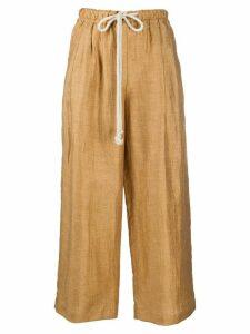 Incotex drawstring wide-leg trousers - Brown