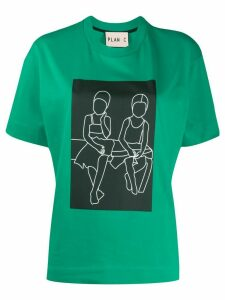 Plan C cotton graphic print T-shirt - Green