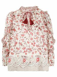 Ulla Johnson Azalea floral blouse - White
