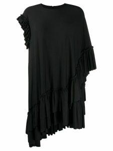 Simone Rocha asymmetric ruffle-trimmed top - Black