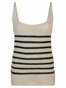 Khaite stripped knit vest top - NEUTRALS