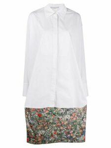 Stella McCartney floral print long asymmetric shirt - White