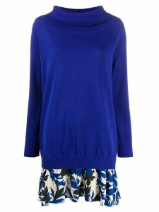 Boutique Moschino roll neck jumper - Blue