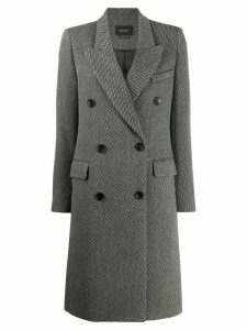Isabel Marant pinstriped double breasted mid-length coat - Grey