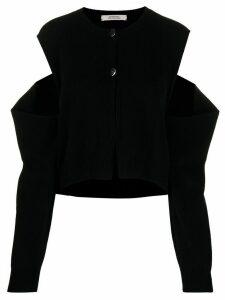 Dorothee Schumacher cashmere cut-detail jumper - Black