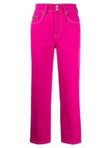 Versace Jeans Couture high-waisted jeans - PINK