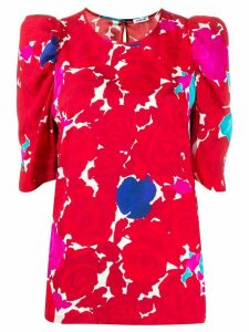 P.A.R.O.S.H. abstract print top - Red