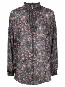 IRO abstract floral print blouse - Black