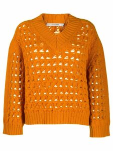 Dorothee Schumacher cashmere long-sleeve jumper - ORANGE