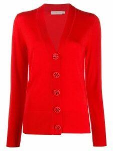 Tory Burch button-up v-neck cardigan - Red