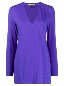 Fisico V-neck long sleeve T-shirt - PURPLE
