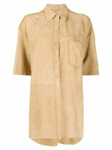 Acne Studios short-sleeved suede shirt - NEUTRALS