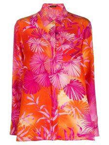 Versace botanical-print shirt - PINK