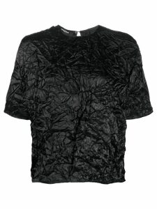 Rochas crinkle effect T-shirt - Black