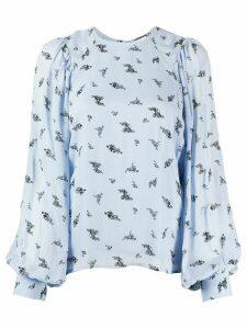 GANNI floral print blouse - Blue