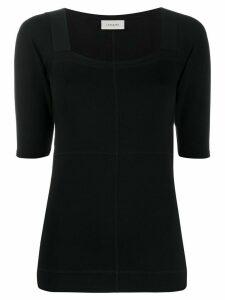 Lemaire square neck T-shirt - Black