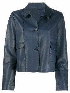 S.W.O.R.D 6.6.44 leather shirt jacket - Blue