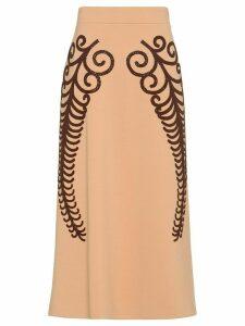 Prada Punto Stoffa knit skirt - NEUTRALS