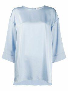 Filippa K Lydia cropped wide sleeve blouse - Blue