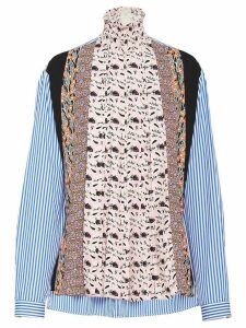 Prada stand-up collar sablé blouse - PINK