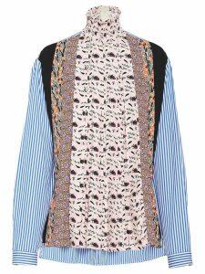 Prada stand-up collar sablé blouse - PINK