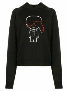 Karl Lagerfeld Ikonik Karl hoodie - Black