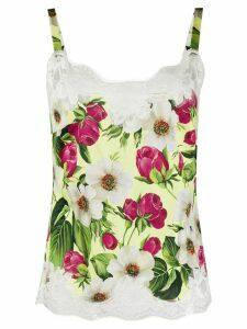 Dolce & Gabbana lace trimmed cami top - NEUTRALS