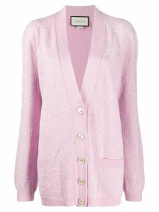 Gucci GG sparkling-effect cardigan - PINK
