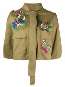 RedValentino bird of paradise embroidered jacket - Green