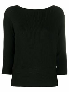 Twin-Set ribbed fitted jumper - Black