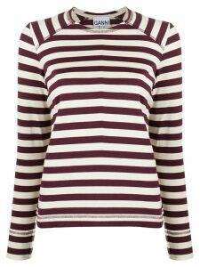 GANNI organic cotton striped sweatshirt - NEUTRALS