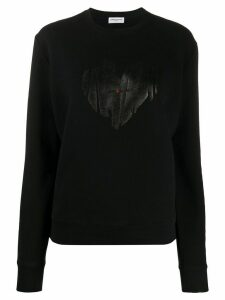 Saint Laurent heart logo sweatshirt - Black