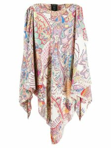 Etro long sleeveless poncho top - PINK
