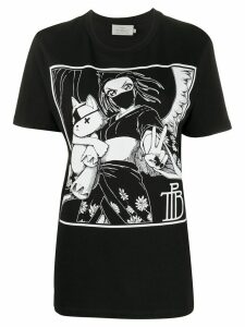 Preen By Thornton Bregazzi Tamiko print T-shirt - Black