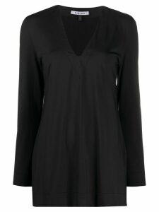 Fisico V-neck long sleeved T-shirt - Black