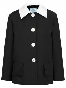 Prada contrast collar blazer - Black