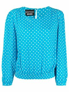 Boutique Moschino polka-dot blouse - Blue