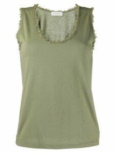 Zanone cotton vest top - Green