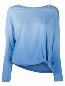 Zanone long sleeved gradient top - Blue