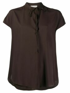 Glanshirt Jacil short sleeved blouse - Brown