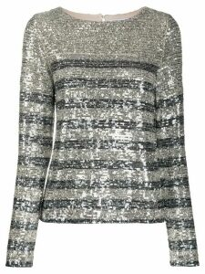 In The Mood For Love Carita sequin blouse - SILVER