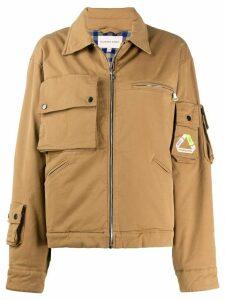Natasha Zinko oversized zipped jacket - NEUTRALS