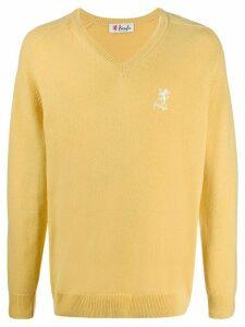 Pringle of Scotland V-neck long sleeve jumper - Yellow