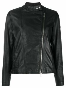 Peuterey leather biker jacket - Black