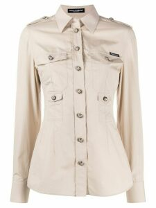 Dolce & Gabbana fitted pocket shirt - NEUTRALS