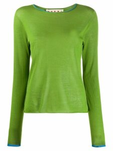 Marni contrast trim knitted top - Green